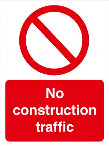 No construction traffic